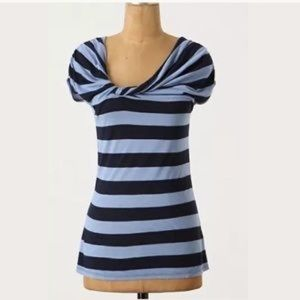 anthropologie deletta a bit unruly twist blue top